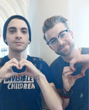 Taylor York (bass) and Jeremy Davis (guitar) of Paramore