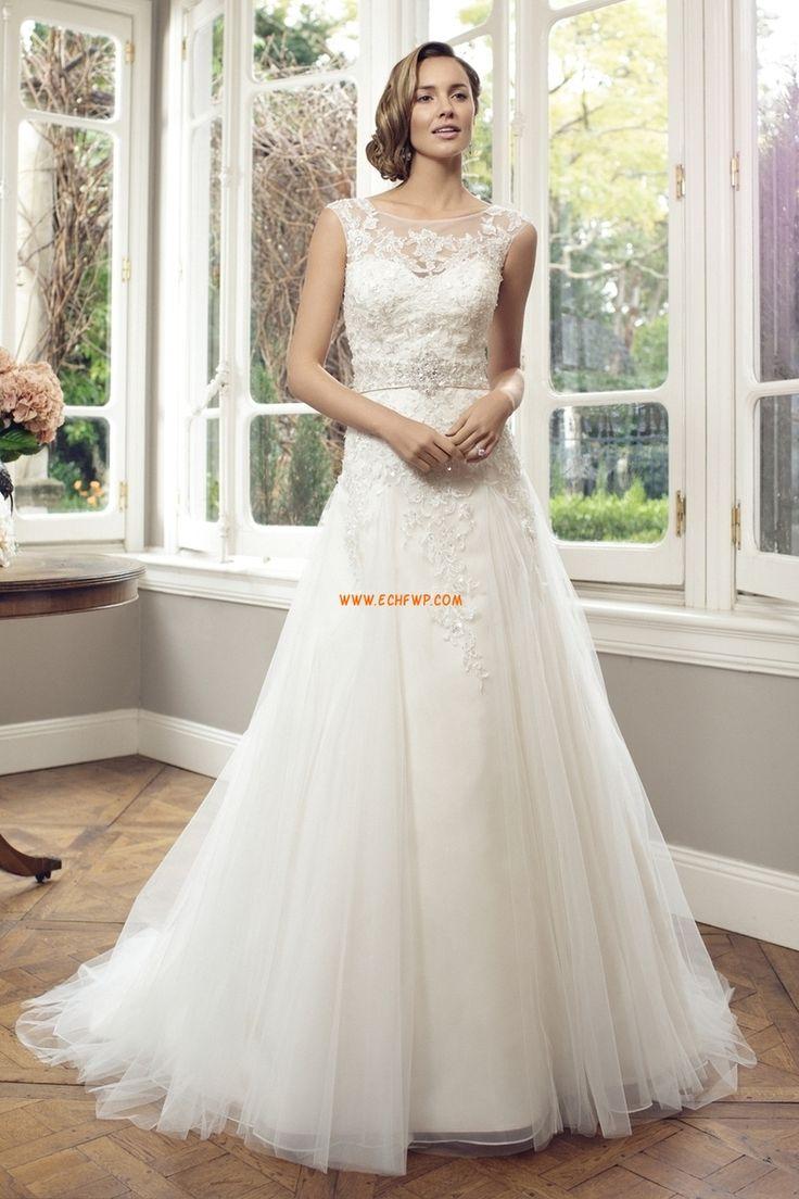 Jaro 2014 Okouzlijící & dramatický Bez rukávů Luxusní svatební šaty