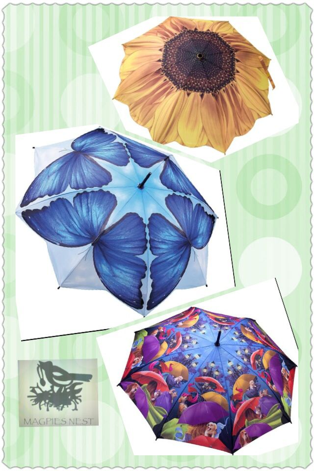 Gorgeous Galleria umbrellas, banish the rainy days away:) £25 each, automatic opening & closing and comes in gift box. Www.mymagpiesnest.com