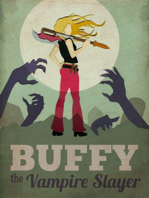 Buffy the Vampire Slayer: Buffy The Vampire Slayer, Minimalist Posters, Vampires Slayer, Joss Whedon, Btvs, Art Prints, Art Posters, Fans Art, Retro Style