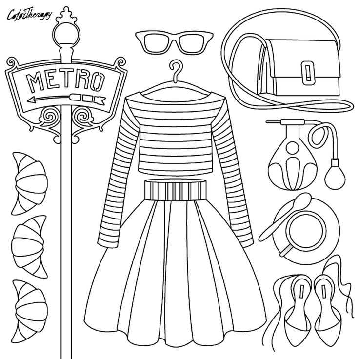 Fashion design coloring pages 48