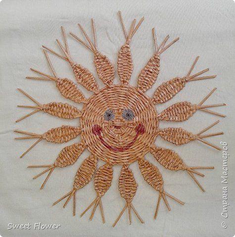 Поделка изделие Масленица Плетение Немного наплелось   в тёмных тонах Бумага газетная Трубочки бумажные фото 17