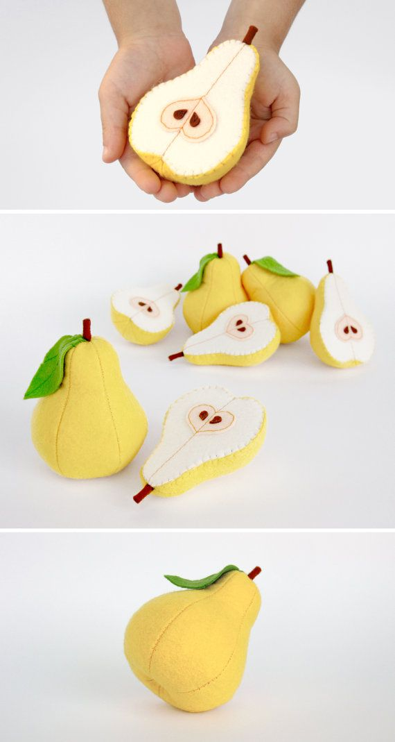 Unique baby gift Toy fruit pear Soft toy Baby girl shower gift for baby Toys for baby girl Educational toys New baby present Christmas gifts