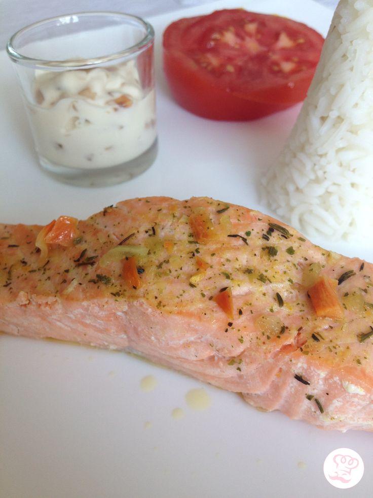 Pavé de saumon sauce échalotte