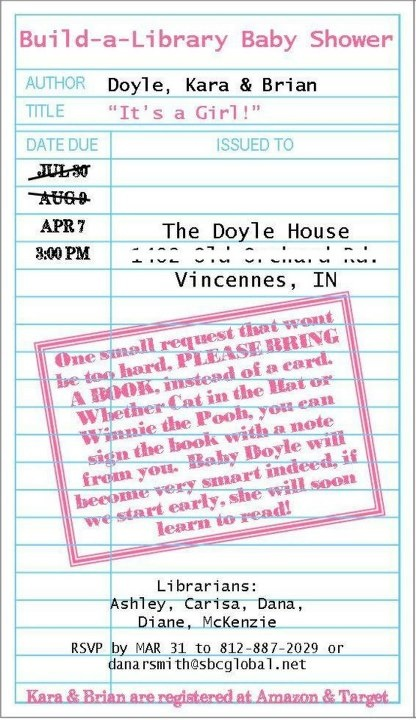 Baby Shower Invite Wording For Books Instead Of Cards