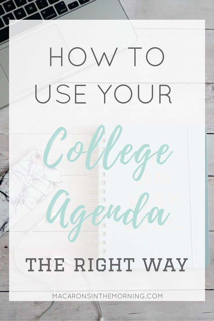 How to Use Your College Agenda (The Right Way)
