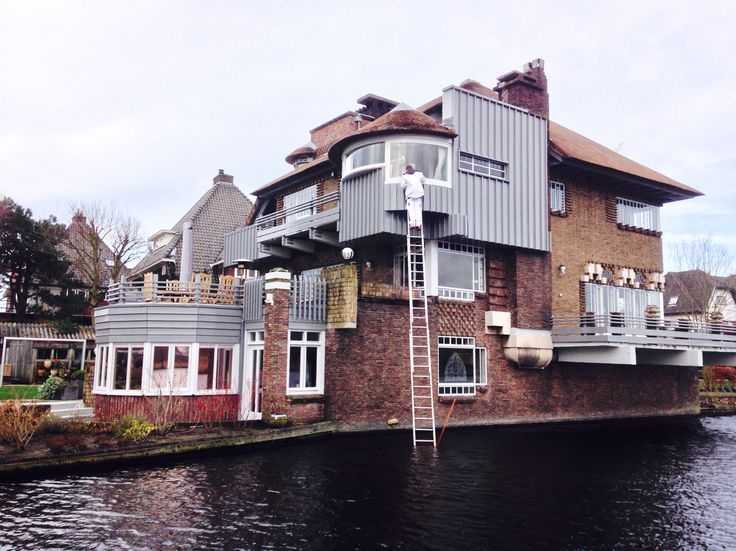 Painting house @ heemstede. Tenibouw