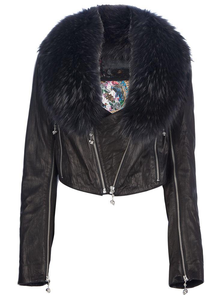 Black lambskin jacket from Philipp Plein #farfetch5