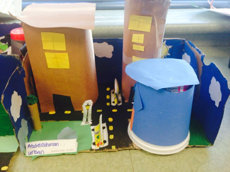 Community shoebox, grade one, social studies