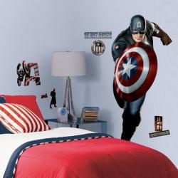 Delightful RoomMates Captain America Peel And Stick Giant Wall Decal