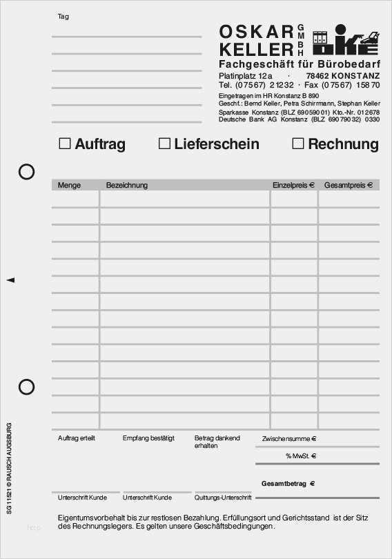 Formular Arbeitsauftrag Auftragsformulare Mit Durchschlag 7