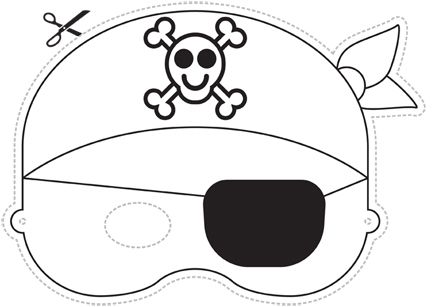 Pirate Mask! My boys will LOVE this!