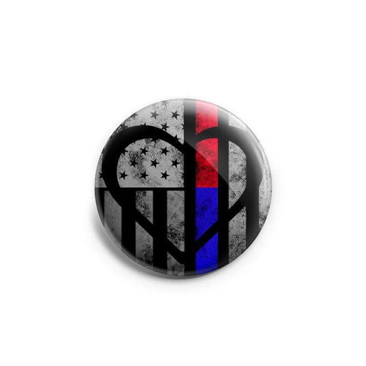 Thin Blue & Red Line Symbolic ♥ Topper