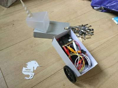 Robots and Physical Computing: Robot Unicorn in python and a microbit