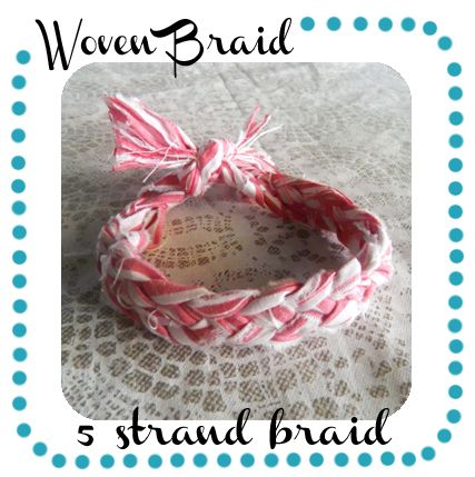 how to braid with 5 strands, and leather strips braiding!