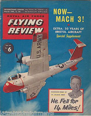 WERNER VON BRAUN & MORE ROYAL AIR FORCE FLYING REVIEW AVIATION MAGAZINE MAR 1960