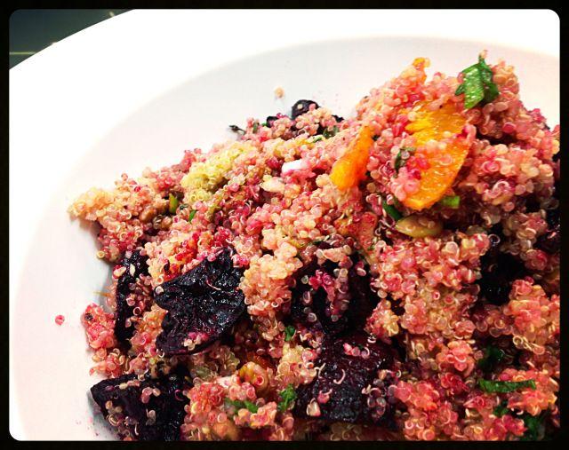 quinoa, beetroot and orange salad