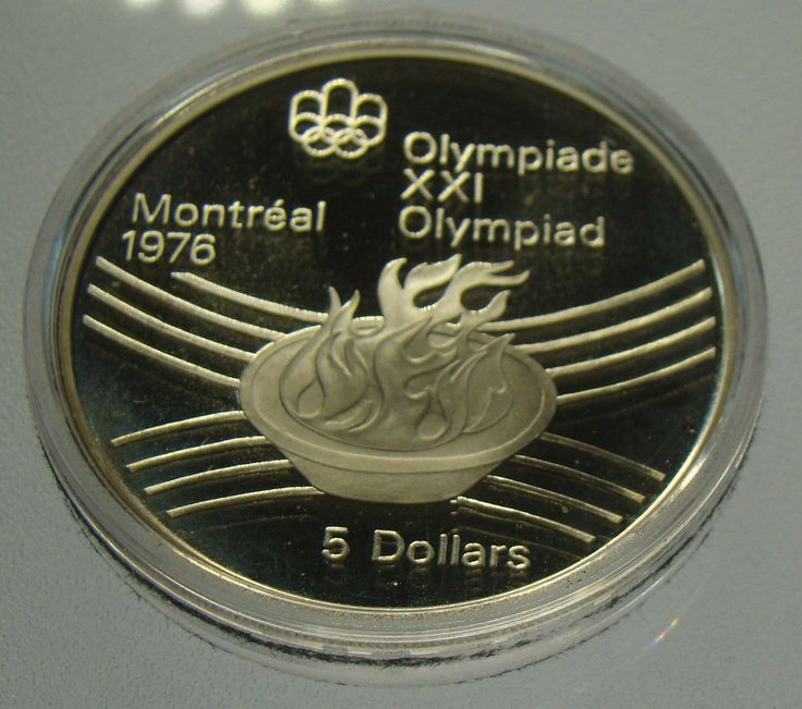 Item specifics    									 			Circulated/Uncirculated:   												Uncirculated     							 							  1976 Canada Olympic Flame Sterling Silver $5 BU Proof Coin – .7226 Troy Ounces  Price : $16.99  Ends on : Ended Order Now