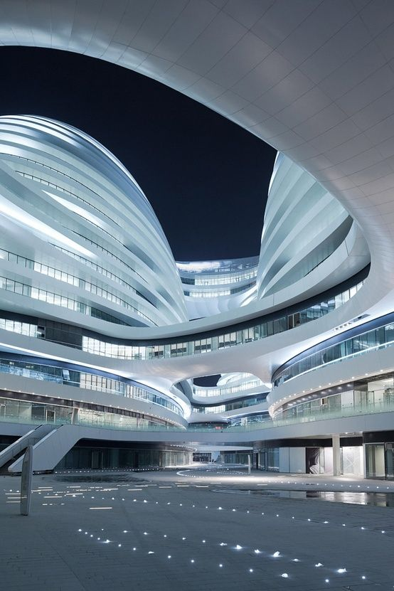 Design Museum London Shortlists the Designs of the Year 2013 - Galaxy Soho, Beijing, China by Zaha Hadid.