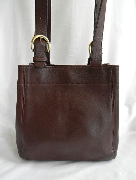 Vintage Coach Mahogany Leather Buckle Bag by VillaMilagro on Etsy