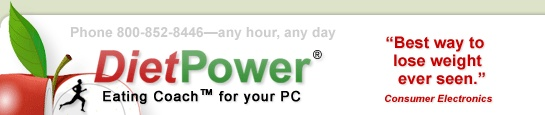 Diet Power rocks.  This is the only calorie counting program that has ever worked for me, and I love it.  There are a couple of drawbacks (PC only - no Mac version, so you have to use it on Virtual PC if you are a Mac user.  Also, no mobile app.)  It is the most effective program I have seen, though, factoring in exercise and changing every day as your metabolism changes.  Love it.  Enough said.