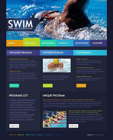 Swim Sport Website Templates by Mercury