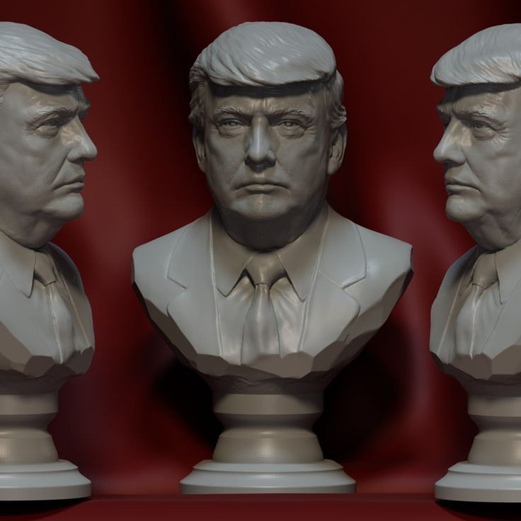 #Donald #Trump #Blender #Bust #Sculpting