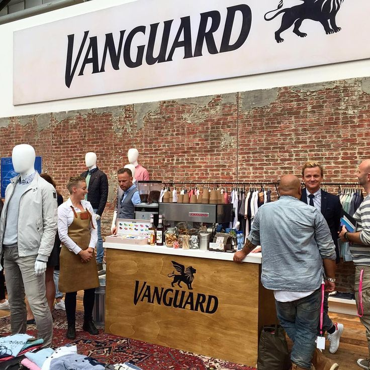 Presenting our Spring Summer '17 collection with a perfect cup of coffee @modefabriek #vanguardclothing #motoguzzi