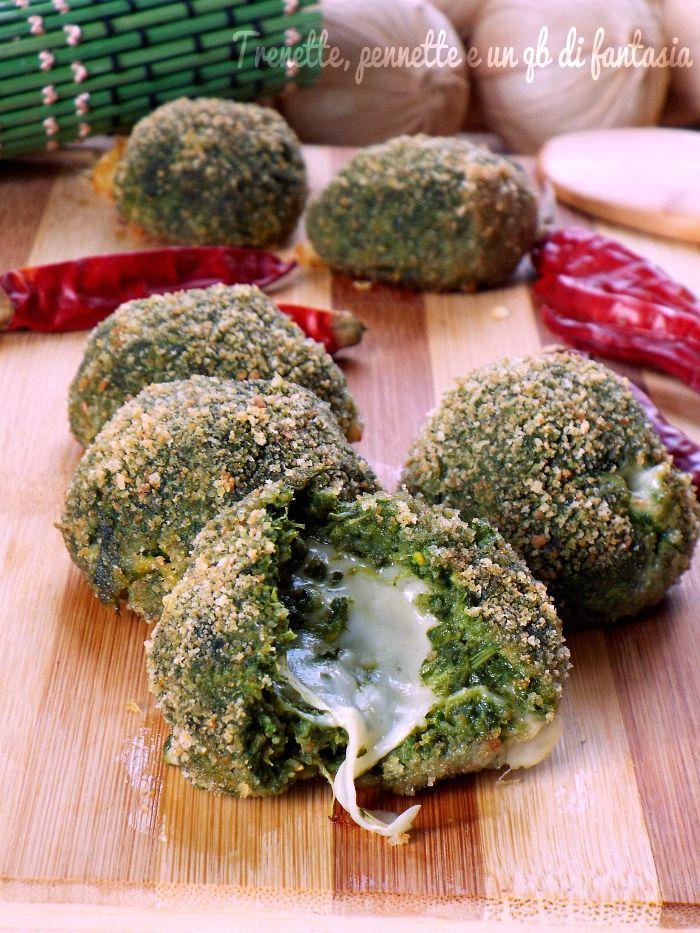 Polpette filanti con broccoletti..cotte al forno