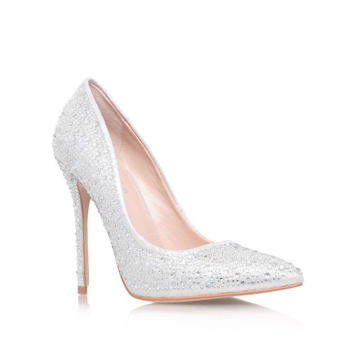 Carvela Gemini high heel court shoes, Silver