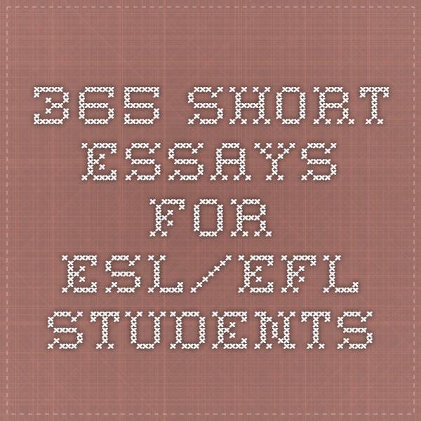 365 Short Essays for ESL/EFL Students