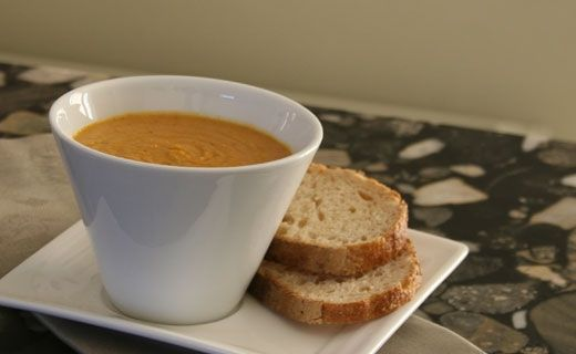 Lunch/Dinner: Epicure's Curry, Coconut and Red Lentil Soup (360 calories/serving) serve with bread or small roll