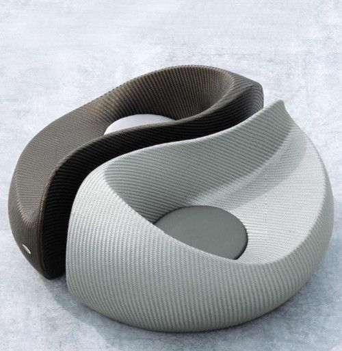 Yin Yang outdoor chaise longue - Dedon by Nicolas Thomkins