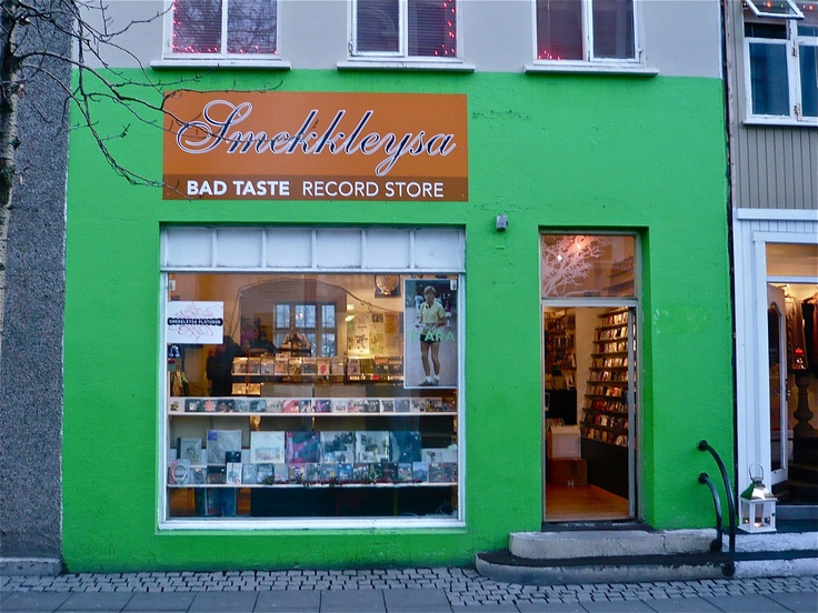 """SHOPPING. Bad Taste (smekkleysa). After many relocations, this legendary music store/label/gallery has settled next to companion vintage clothing stores Elvis and Rokk og Rósir. Inspired by the maxim, """"Good taste is the enemy of art,"""" the label boasts Icelandic supernovae Björk, Sigu"""