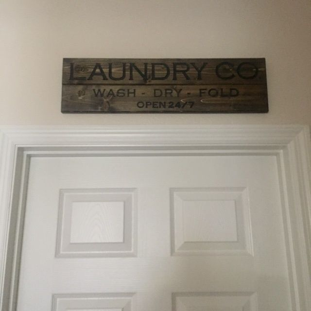 Laundry Sign Carved Wood Sign Wood Laundry Door Sign Interior Sign