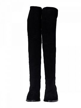 Shop Suede Over the Knee Boots With Elastic Cloth Detail from choies.com .Free shipping Worldwide.$119.9