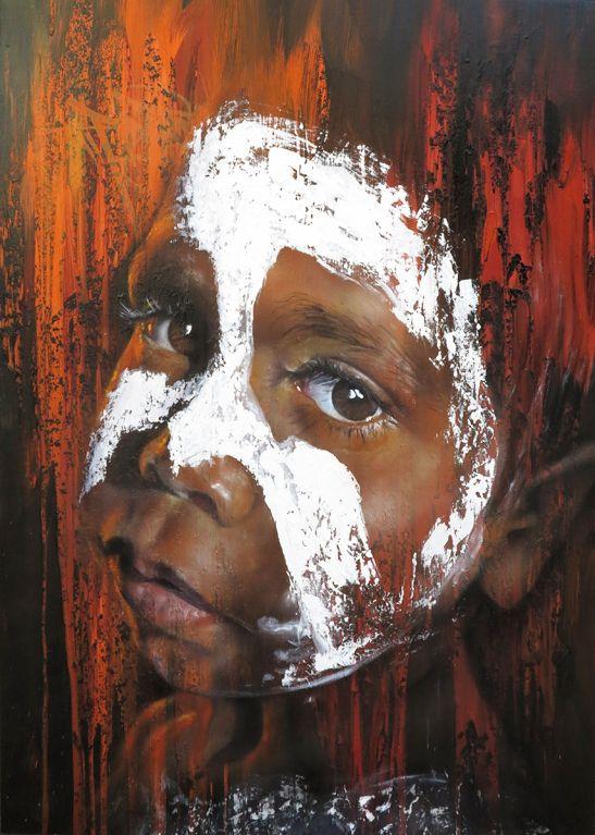 Matt Adnate - Beyond the Lands exhibition. What an amazing spray artist.