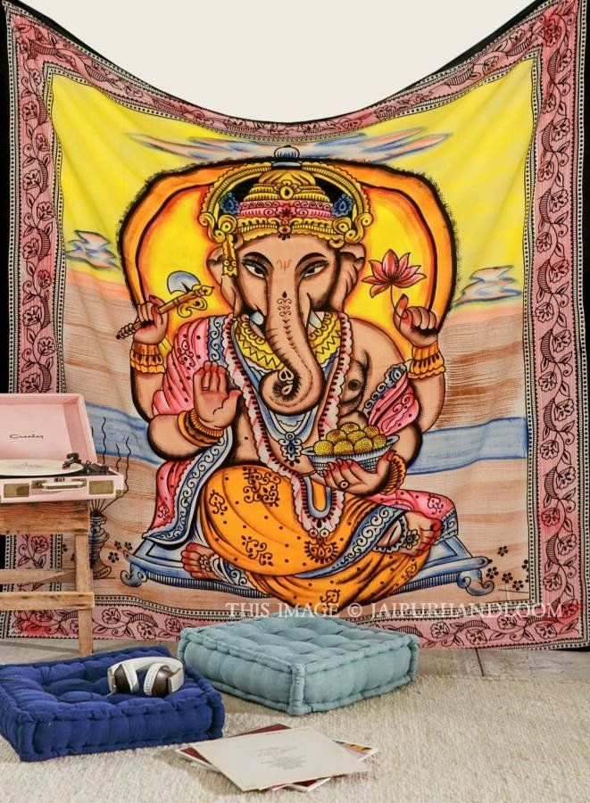 indian lord ganesha wall tapestry hippie cheap wall hanging queen bedding