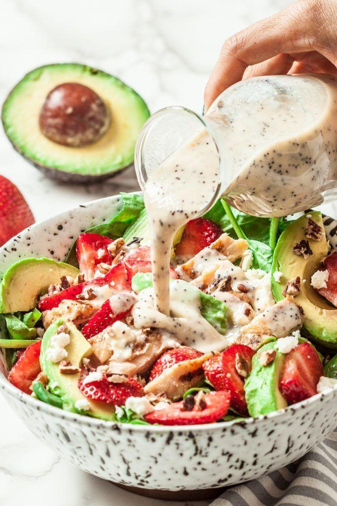 Strawberry Avocado Chicken Salad (Gesundes Mohndressing)   – Salad, Slaws and Buddah Bowl ideas