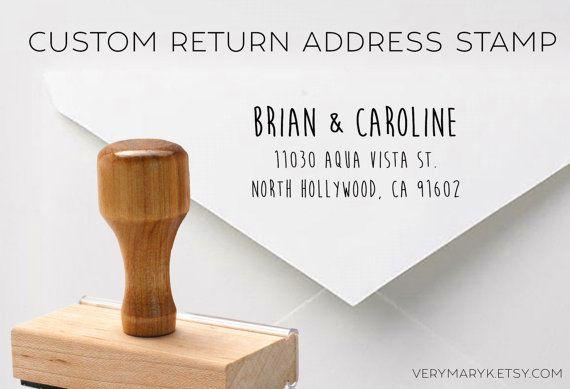 SALE handwritten wooden return address stamp custom stamp