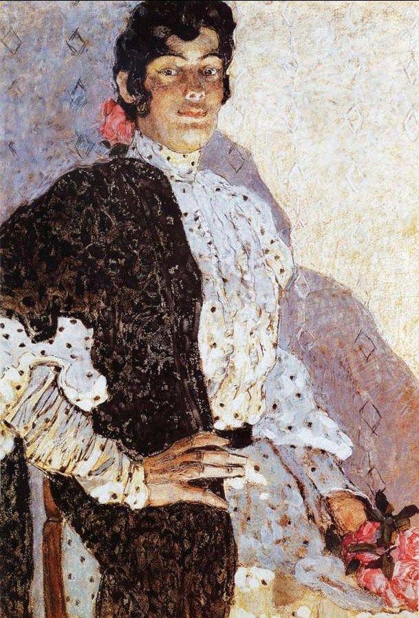 Alexander Golovin (Russian painter, 1863-1930) Spanish Woman with Black Shawl