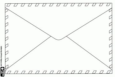 letter of an envelope coloring page kleurplaten
