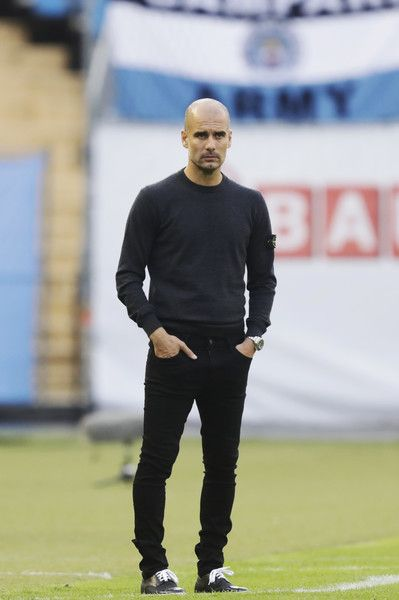 Pep Guardiola Photos Photos - Pep Guardiola, head coach of Manchester City during the Pre-Season Friendly between Arsenal and Manchester City at Ullevi on August 7, 2016 in Gothenburg, Sweden. - Arsenal v Manchester City: Pre-Season Friendly