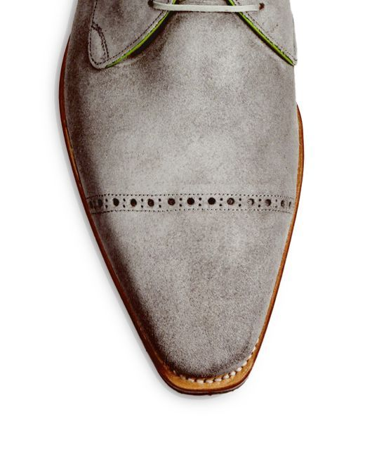 Corthay | Gray Ike Suede Lace-up Derby Oxfords for Men | Lyst