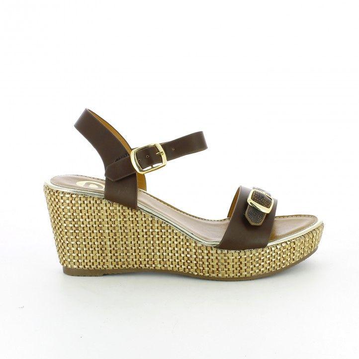 INBLU - Zapatillas de estar por casa de piel sintética para mujer marrón bronce 37 marrón Size: 40 P9N7srtY1
