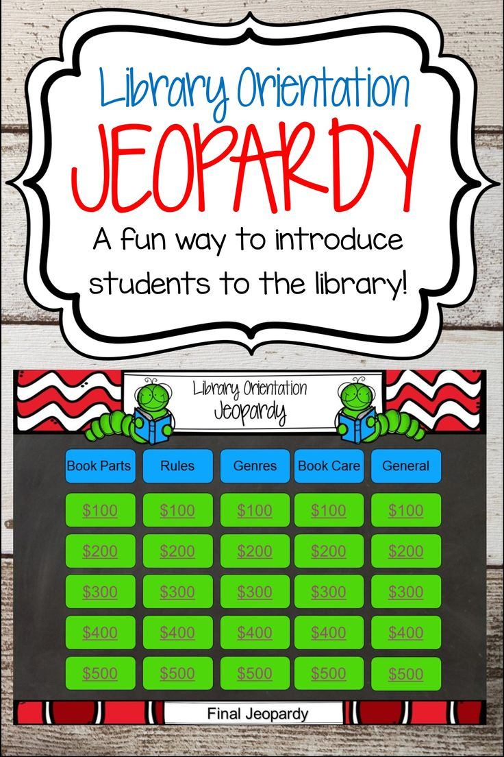 A fun and interactive way to introduce students to the library.