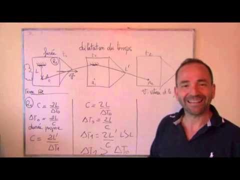 TS 2012 / 8: temps et relativité restreinte - YouTube