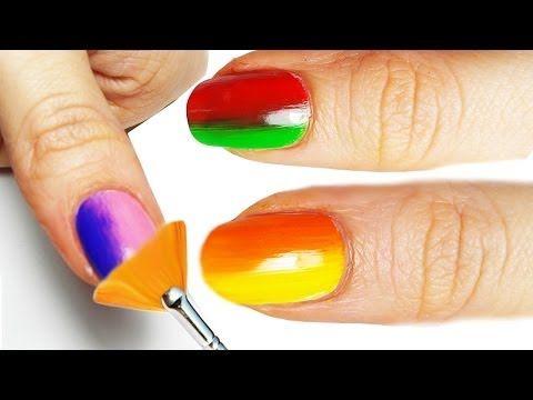 Shade Nail Art Tutorial con Pennello Ventaglio! - YouTube