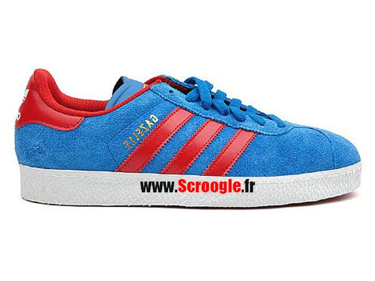 Chaussures de Originals Pas Cher Pour Homme/Femme Adidas Gazelle II Dark Royal Red G63205