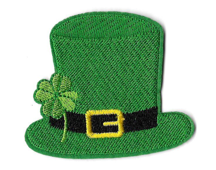 Irish - Leprechaun's Hat - Shamrock - St. Patrick's Day - Iron On Patch #Unbranded